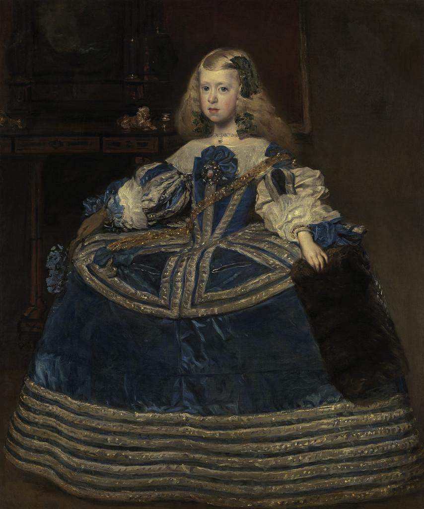 Diego Velázquez, Portrait de l'infante Marguerite en bleu, vers 1659, 127 x 107 cm, huile sur toile, Kunsthistorisches Museum, Vienne © © Kunsthistorisches Museum, Vienne